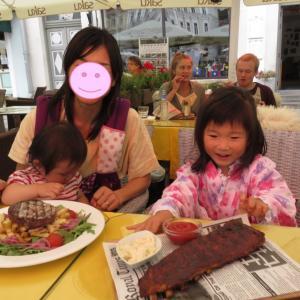 タリン:ラエコヤ広場でランチ(1歳&4歳:子連れスウェーデン・フィンランド・エストニア旅 ♯67)