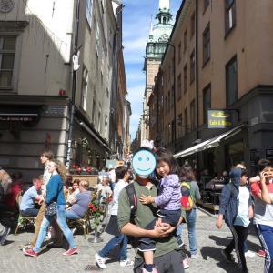 ストックホルム:ガムラ・スタンその1~ドイツ教会/大聖堂で絵本遊び~(1歳&4歳:子連れスウェーデン・フィンランド・エストニア旅 ♯75)