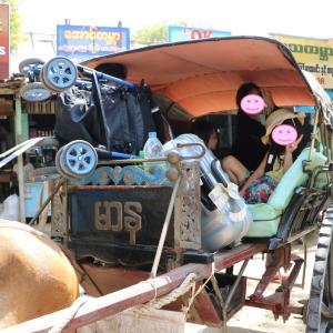 2018.2 子連れミャンマー旅 ♯42:ホテルへの送迎にやってきたのは・・・馬車でした(^^)/