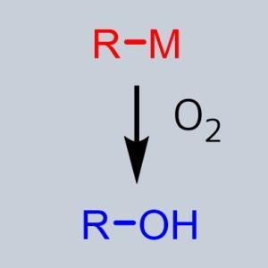 有機金属試薬を酸化してアルコールを合成
