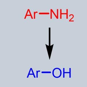 芳香族アミンからフェノールの合成 ジアゾニウム塩を経由