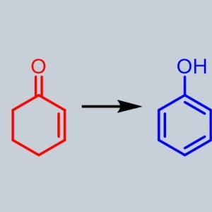 環状ケトンの芳香族化でフェノール合成