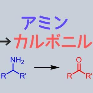 アミンをケトンやアルデヒドに酸化する合成方法