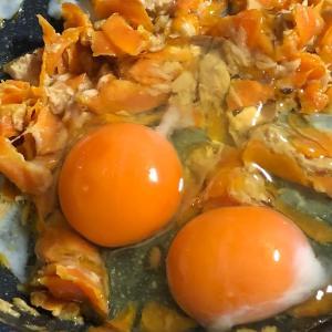 いい平飼い卵が入ったので卵料理を作ってみた。やっぱ卵とツナの相性は抜群だね!