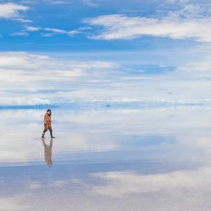 【ボリビア】僕たち死んだ?幻想的すぎる昼のウユニ塩湖へGO!!