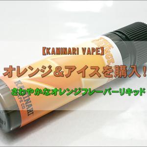 【KAMINARI VAPE】オレンジ&アイスを購入!~さわやかなオレンジフレーバーリキッド~