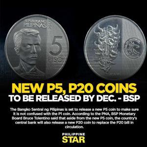 (速報)フィリピン中央銀行が新しい硬貨を流通