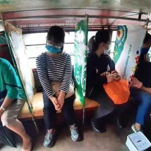 フィリピン 公共交通の社会的距離縮小!