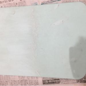 珪藻土バスマットが汚い‼️これはもう削るっきゃなーい‼️