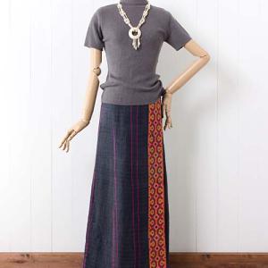 【新着】すっと強調タテライン!のAラインモン族ヘンプ巻きスカートと、たまにはカラーパンツで新鮮味!なモン族ヘンプタイパンツ
