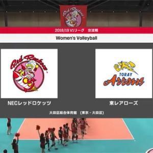 【Vリーグ】11/24 NECー東レ
