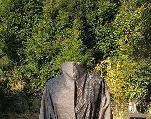 大島紬のコートのリメイクのリメイク!