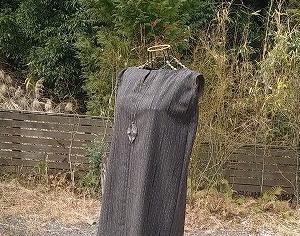 ウールの着物からロングチュニックワンピース!