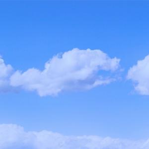 時間を忘れる空と雲