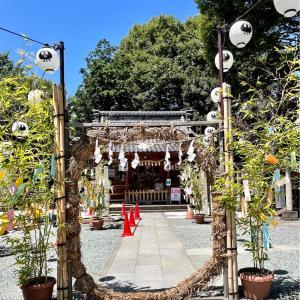 川越・熊野神社へ