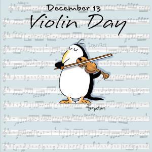 アイビーリーグ早期合格発表の翌日は、バイオリンの日