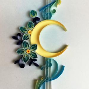 ペーパークイリング『月と花』