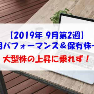 【株式】週間運用パフォーマンス&保有株一覧(2019.9.13時点) 大型株の上昇に乗れず!