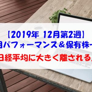 【株式】週間運用パフォーマンス&保有株一覧(2019.12.13時点) 日経平均に大きく離される...