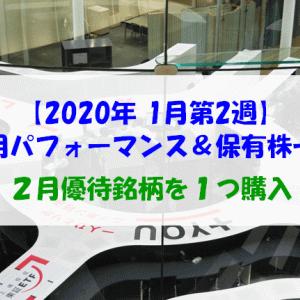 【株式】週間運用パフォーマンス&保有株一覧(2020.1.17時点)