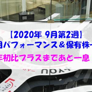 【株式】週間運用パフォーマンス&保有株一覧(2020.9.11時点) 年初比プラスまであと一息!
