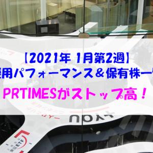 【株式】週間運用パフォーマンス&保有株一覧(2021.1.15時点) PRTIMESがストップ高!