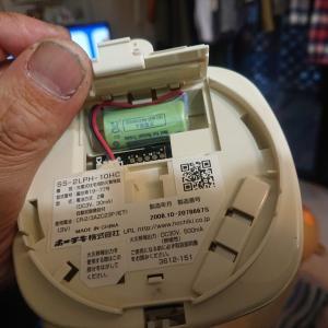 火災報知器の電池が切れた…ので、買い替え。