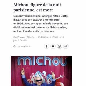 〜フランスキャバレーの顔、Michou氏逝く〜