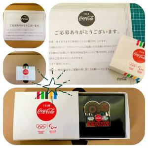 Coke ONから東京2020記念ピンが届いた!