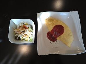 オムライスとパンケーキ