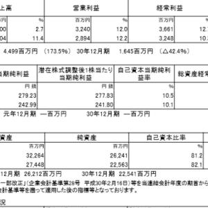 東計電算(4746)|19年12月期ざっくりレビュー