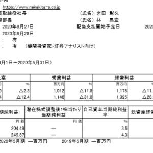 中北製作所(6496)|20年5月期ざっくりレビュー