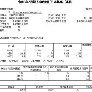 丸東産業(7894)|21年2月期ざっくりレビュー