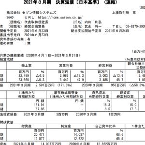 セゾン情報システムズ(9640)|21年3月期ざっくりレビュー