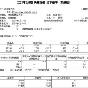 中北製作所(6496)|21年5月期ざっくりレビュー