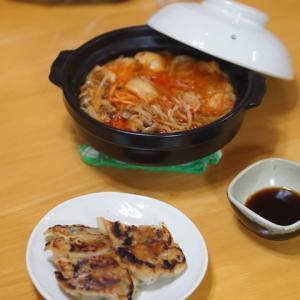 チゲ鍋とつくりおきの餃子