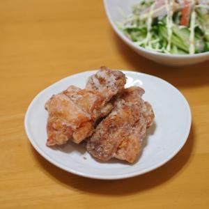 塩唐揚げとカニカマサラダ