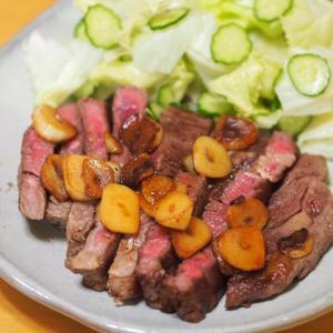 冷凍ストックのステーキ