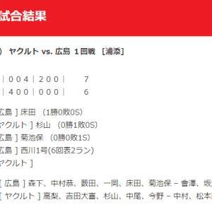 【カープ試合結果】2020年2月22日[ヤクルト6-7広島]