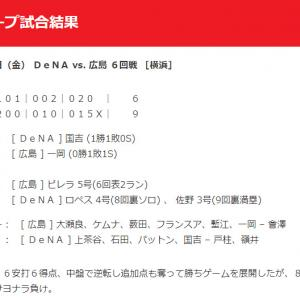 【カープ試合結果】2020年7月24日[DeNA9-6広島]