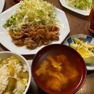 生姜焼きと芋ご飯 By POGI