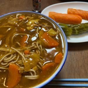 カレー蕎麦とスマホのぬり絵 By POGI