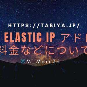 AWS Elastic IP アドレス の料金などについて