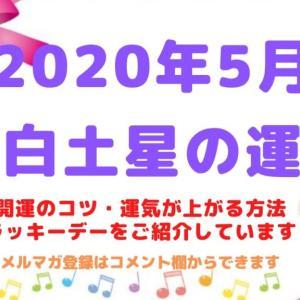 【八白土星】2020年5月の運勢