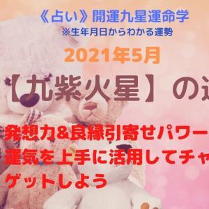《占い》【九紫火星】2021年5月の運勢&金運アップ開運法★開運九星運命学