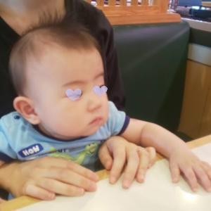 生後8カ月の息子と【はま寿司へ】
