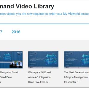 VMworldを録画映像で見ることができるオンデマンドビデオライブラリ