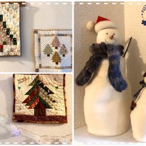 我が家のクリスマスの飾り付けはハンドメイド【パッチワークキルト】思い出の布も