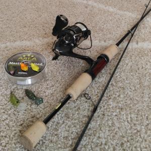 管釣り用タックル準備完了