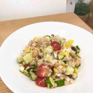 キヌアと夏野菜のチョップドサラダ